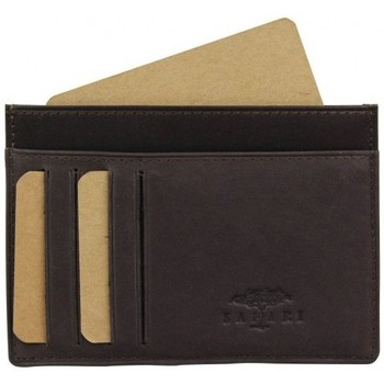 Sacs Femme Porte-monnaie Safari Porte cartes cuir brut ultra plat  Vintage Marron