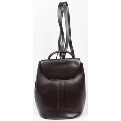 Sacs Femme Sacs à dos Nouvelty Sac à dos cuir marron fabriqué en France Marron