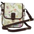 Nouvelty Petit sac bandoulière femme impression enveloppes et timbres Pos