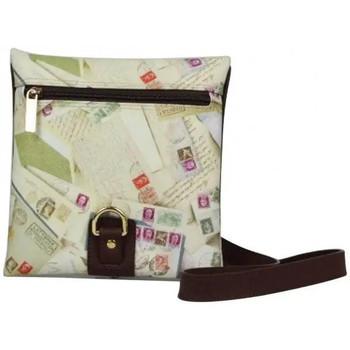 Sacs Femme Sacs Bandoulière Nouvelty Sac bandoulière enveloppe  femme impression enveloppes et timbre Beige
