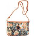 Patrick Blanc Mini sac pochette bandoulière ultra plat  imprimé fleurs et effe