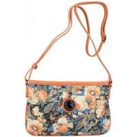 Sacs Femme Sacs Bandoulière Patrick Blanc Mini sac pochette bandoulière ultra plat  imprimé fleurs et effe Corail