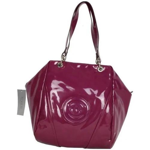 Sacs Femme Sacs porté épaule Texier Sac porté épaule  cabas boule vernie Cosmos 25109 Violet