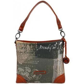 Sacs Femme Sacs porté épaule Patrick Blanc Sac double bandoulières  imprimé 509037 Orange