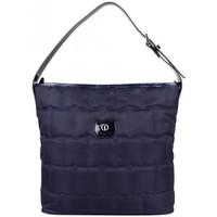 Sacs Femme Sacs porté épaule Texier Sac épaule toile matelassée et vernie de marque  France 20203 Bleu marine