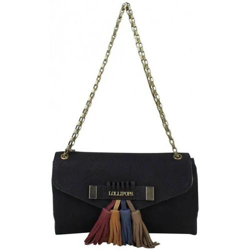 Sacs Femme Sacs porté épaule Lollipops Petit sac bandoulière chaîne pochette déco pompons  Zele Clutch Noir