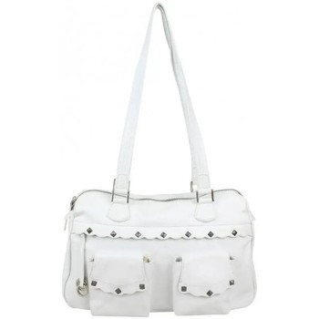 Sacs Femme Sacs porté épaule Patrick Blanc Sac porté épaule cuir effet vieilli avec poches  7103 Blanc / blanc cassé