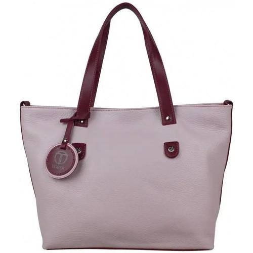 Sacs Femme Sacs porté main Texier Sac à main cuir  fabrication Française 23014 Violet