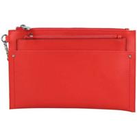 Sacs Femme Pochettes / Sacoches Fuchsia Pochette sans bandoulière ultra plate  F9666-2 Rouge