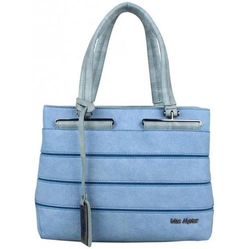 Sacs Femme Sacs porté main Mac Alyster Sac à main décore bi matière  B560-560A Bleu