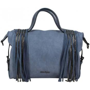Sacs Femme Sacs porté main Mac Alyster Grand sac à main déco franges et chaîne  B541-5414 Bleu foncé