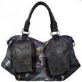 Sacs Femme Cabas / Sacs shopping Smash Sac épaule trapèze tissu imprimé  LTR-LISA BAG .Multi-couleur
