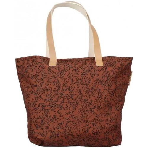 Sacs Femme Cabas / Sacs shopping Eastpak Cabas shopping toile et cuir  Ek858 Flask 36L Speckles motif imp Marron