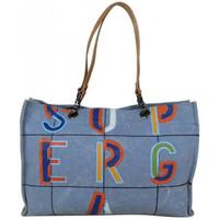Sacs Femme Cabas / Sacs shopping Superga Grand sac cabas  toile motif effet peinture 20405 Bleu