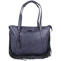 Sacs Femme Cabas / Sacs shopping LuluCastagnette Sac cabas plat bandoulière  avec franges Gaud Bleu foncé
