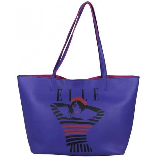 Sacs Femme Cabas / Sacs shopping Elle Sac à main épaule fourre-tout   Juste A Cover L5245 Bleu foncé
