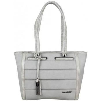 Sacs Femme Cabas / Sacs shopping Mac Alyster Grand sac à main décore bi matière  B560-5603 Gris