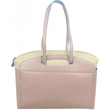Sacs Femme Cabas / Sacs shopping Patrick Blanc 2 en 1 sac à main et cabas L toile  Tandem Beige
