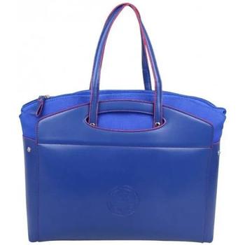 Sacs Femme Cabas / Sacs shopping Patrick Blanc 2 en 1 sac à main et cabas M toile  Tandem Bleu