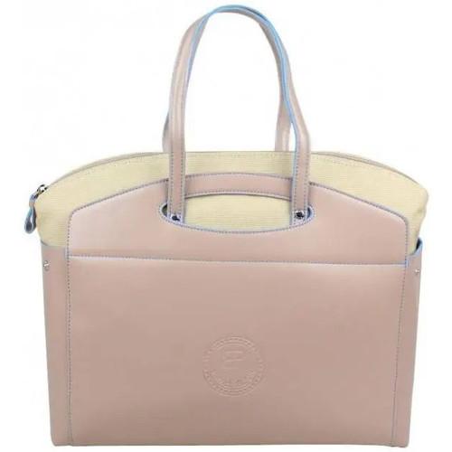 Sacs Femme Cabas / Sacs shopping Patrick Blanc 2 en 1 sac à main et cabas M toile  505069 Beige