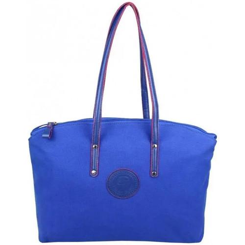 Sacs Femme Cabas / Sacs shopping Patrick Blanc Sac à main cabas L toile  514043 Bleu foncé