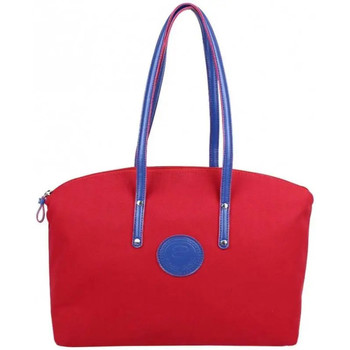 Sacs Femme Cabas / Sacs shopping Patrick Blanc Sac cabas L toile  Solo Rouge