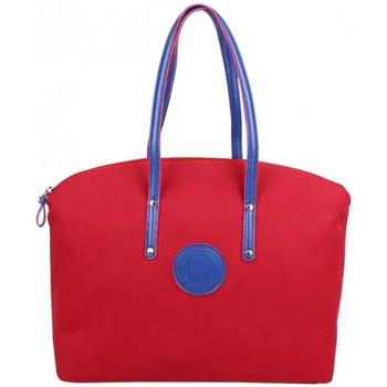 Sacs Femme Cabas / Sacs shopping Patrick Blanc Sac à main cabas M toile  Solo Rouge