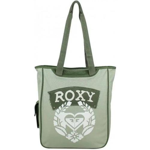 Sacs Femme Cabas / Sacs shopping Roxy Grand sac cabas épaule  imprimé fleur couronne laurier XRWBA351 Vert kaki