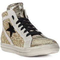Chaussures Femme Baskets montantes Meline GO  MICROCRACK  OLD GOLD    106,9