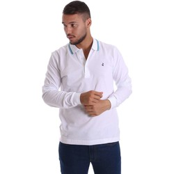 Vêtements Homme Polos manches longues Navigare NV82021 Polo Man Blanc Blanc