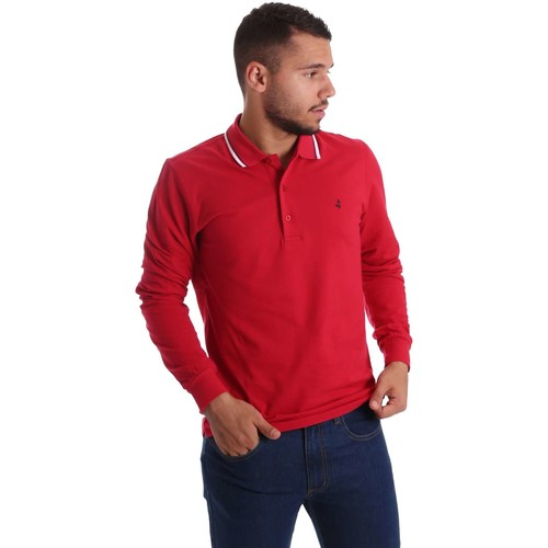 Vêtements Homme Polos manches longues Navigare NV82021 Polo Man Rouge Rouge