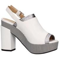 Chaussures Femme Sandales et Nu-pieds Lazzari Felici 2729 Blanc / Argent
