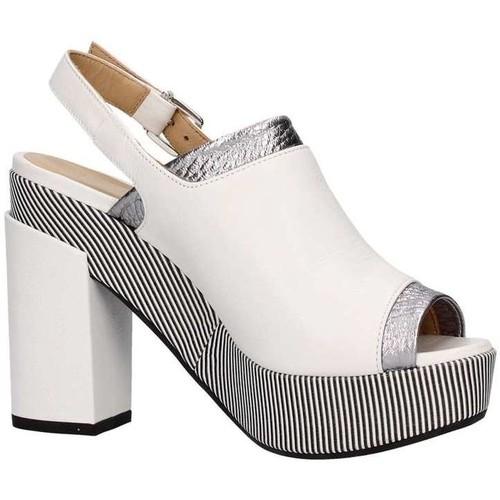 Lazzari Felici 2729 Sandale Femme Blanc / Argent Blanc / Argent - Chaussures Sandale Femme