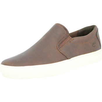 Chaussures Homme Slips on Timberland 2.0 CUPSOLE SLIP ON Chaussures Mode Sneakers Homme Cuir Brun marron