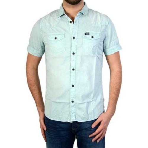 Vêtements Homme Chemises manches courtes Petrol Industries CHEMISE MSS16SIS40 BLEUE TOPAZE