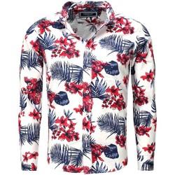 Vêtements Homme Chemises manches longues Carisma Chemise hawaienne pour homme Chemise 8394 blanc Blanc