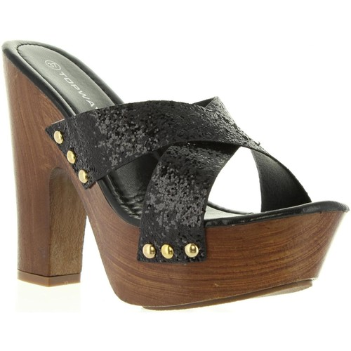 Chaussures Femme Mules Top Way B736910-B7200 Negro