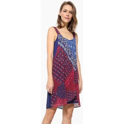 Vêtements Femme Robes courtes Desigual Robe Cassidy Fucsia Luxor Rose 17WWVWC4
