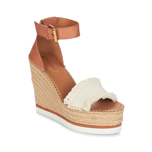 Chaussures Femme Espadrilles See by Chloé GLYN Cognac / Beige