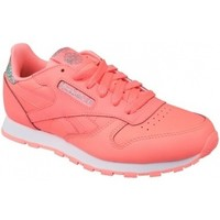 Chaussures Enfant Baskets basses Reebok Sport Classic Leather rose