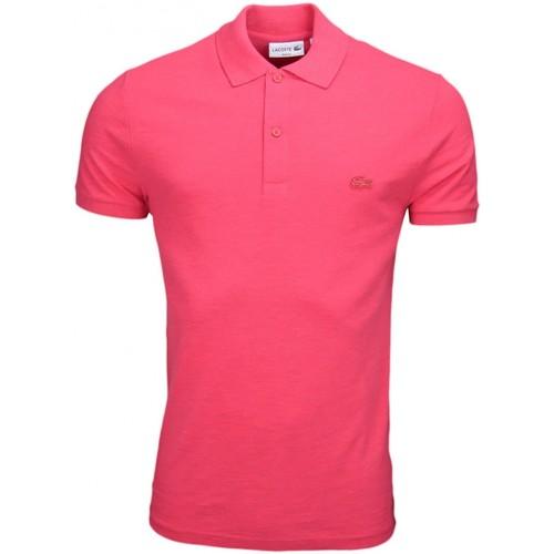 Vêtements Homme Polos manches courtes Lacoste Polo  slim fit en piqué marbré rouge pour homme Rouge