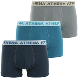 Vêtements Homme Boxers / Caleçons Athena Lot de 3 boxers homme Authentic marinebleuatlantiquegranit