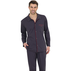 Vêtements Homme Pyjamas / Chemises de nuit Athena Pyjama long homme Chic anthracitebordeauxanthracite