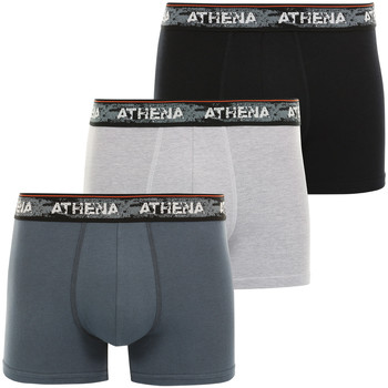 Vêtements Homme Boxers / Caleçons Athena Lot de 3 boxers homme Authentic grischinardoisenoir