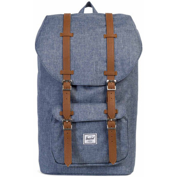 Sacs Sacs à dos Herschel Little America Dark Chambray Crosshatch / Tan Synthetic Leather