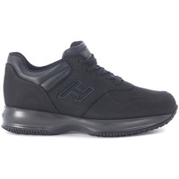 Chaussures Baskets basses Hogan Basket  Interactive en daim noir Noir