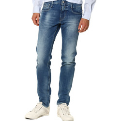 Vêtements Femme Jeans droit Replay Jeans HOMME - ANBASS M91423C940.009_12.5 OZ BRIGHT REDCAST STRE Bleu