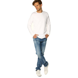 Vêtements Femme T-shirts manches longues Project X T-shirt HOMME - SWEAT 88162255_WHITE Blanc