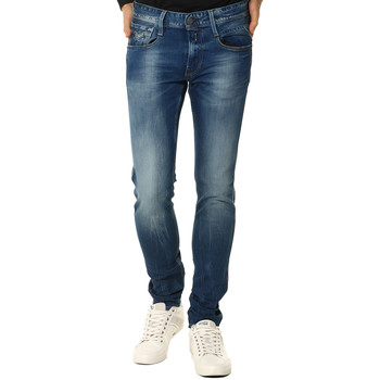 Vêtements Femme Jeans droit Replay Jeans HOMME - ANBASS M91423C930.009_12.5 OZ BRIGHT REDCAST STRE Bleu
