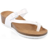 Chaussures Femme Tongs Pomme Passion Nu-pieds style orthopédique Kahina Blanc